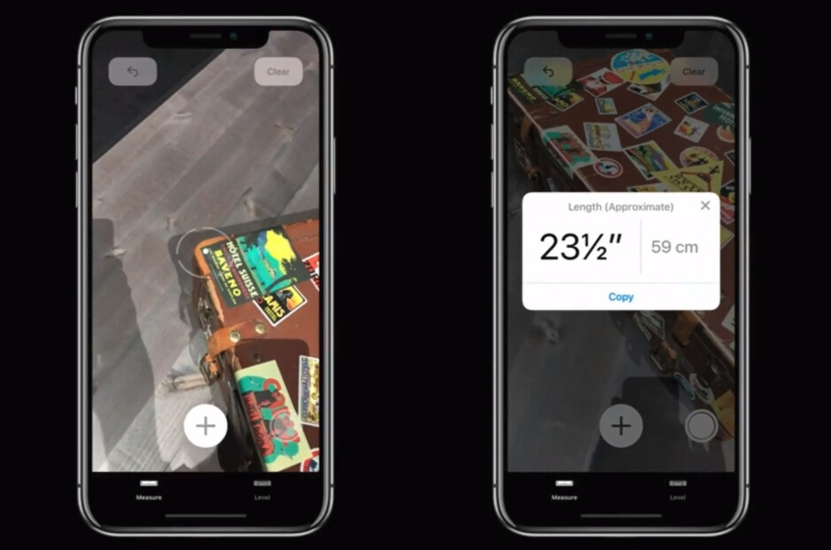 Measure is a new app in iOS 12 for measuring real-world objects through AR - iOS 12 is announced with focus on performance and augmented reality