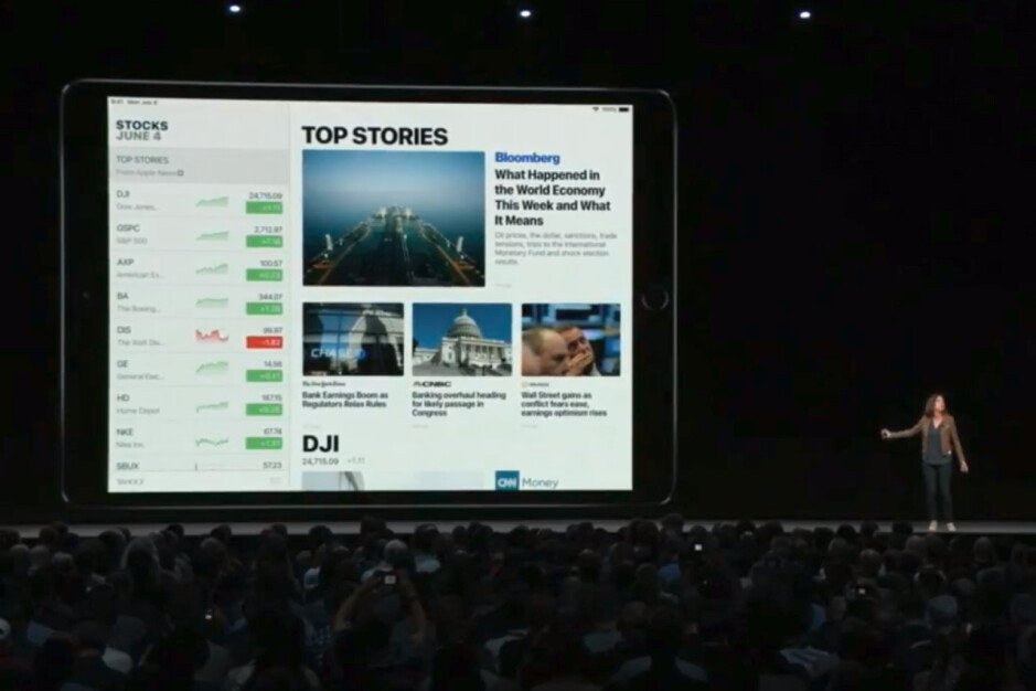 Stocks is coming to iPad with iOS 12 - iOS 12 is announced with focus on performance and augmented reality
