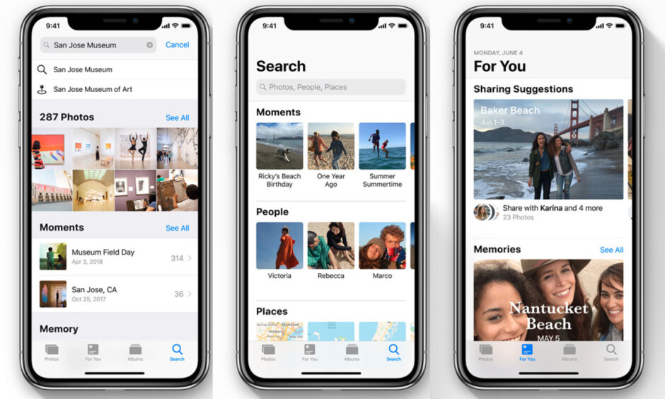 The Photos app in iOS 12 gets a 'For You' tab and new sharing features - iOS 12 is announced with focus on performance and augmented reality
