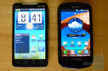 Samsung Epic and HTC EVO 4G