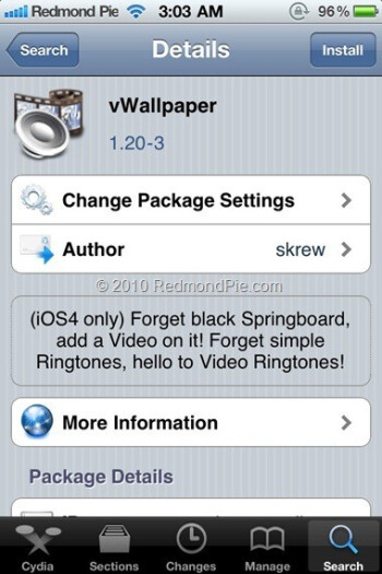 Live wallpapers come to the iPhone and iPod Touch