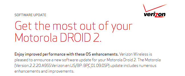 A couple of weeks after launch, and DROID 2 gets OS upgrade OTA