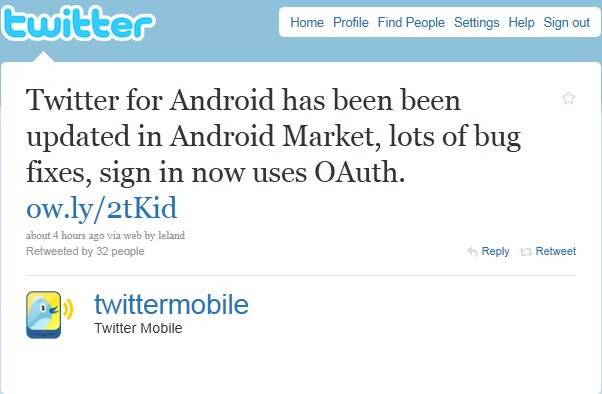 Official Twitter app for Android has been updated to version 1.0.3