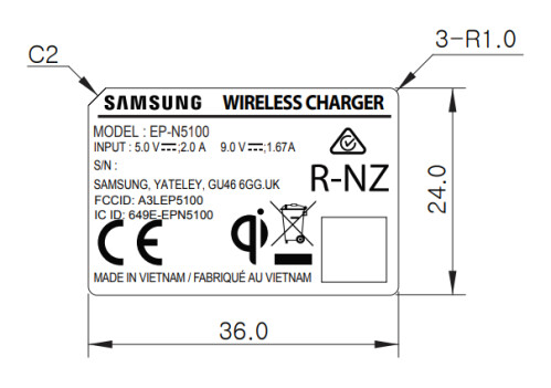 Samsung's 2A wireless charger clears the FCC