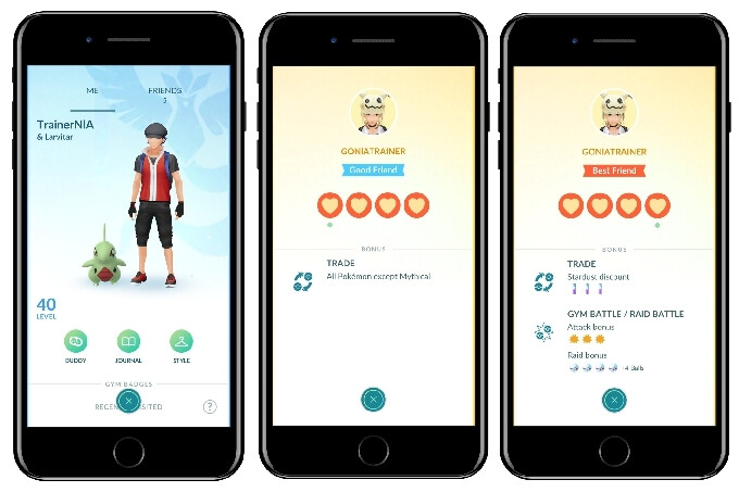 Friends in Pokemon GO - Friends and trading are finally coming to Pokemon GO