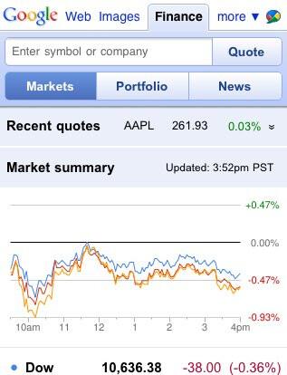 Google Finance goes mobile friendly across all platforms