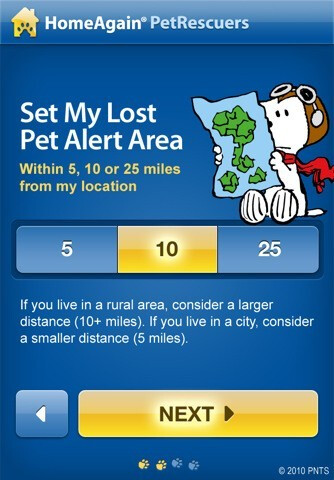 PetRescuers for the iPhone - PetRescuers helps iPhone-carrying pet owners find their four-legged loved ones