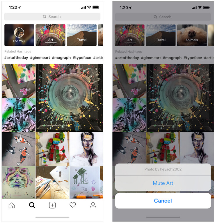 Topic channels are now found in Explore, and any one you don't want can be muted - Instagram update rolls out today with video chat, Explore topic channels and more