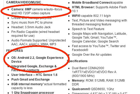 Future shipments of the HTC Droid Incredible will come with Froyo out of the box