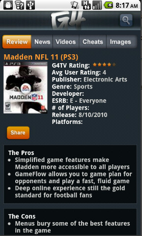 New G4 app for Android perfect for gamers and mobile device fans