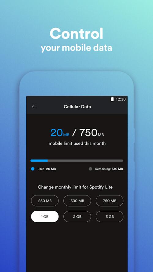 Spotify Lite wurde im Google Play Store veröffentlicht, aber es fehlen einige Premium-Funktionen