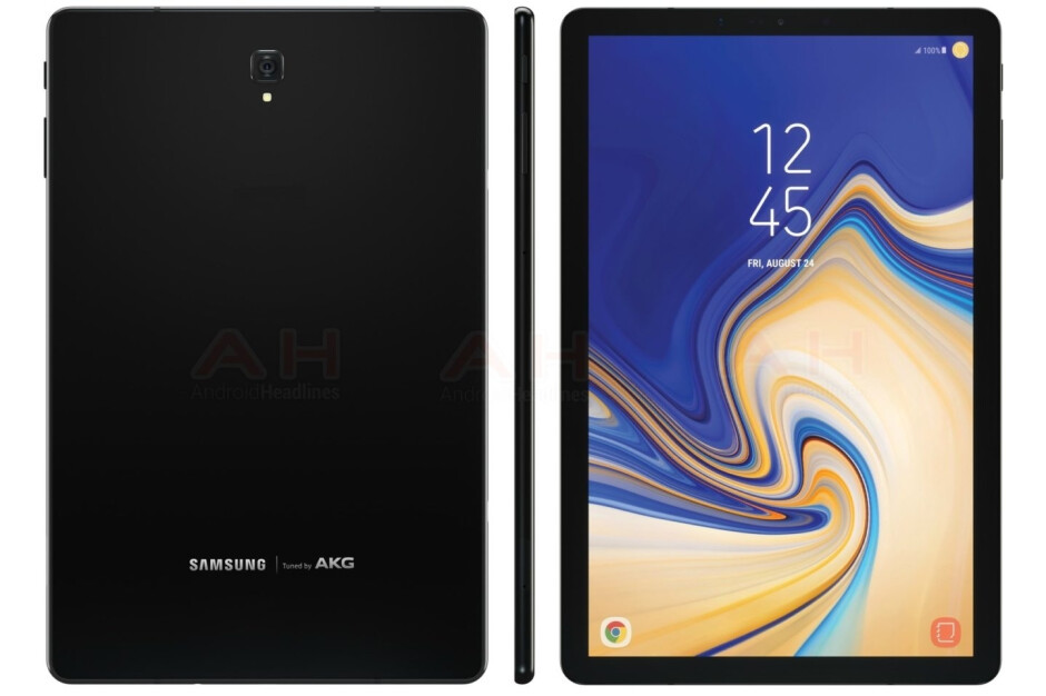 Alleged press render of the Galaxy Tab S4 from Android Headlines - Is this the Galaxy Tab S4? New render revealed
