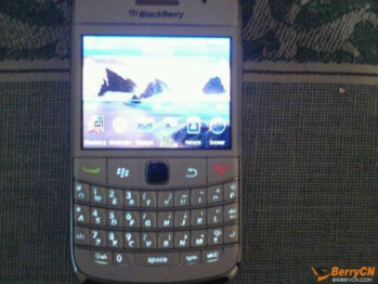 "BlackBerry 9780 Bold ""Refresh"" appears in white"