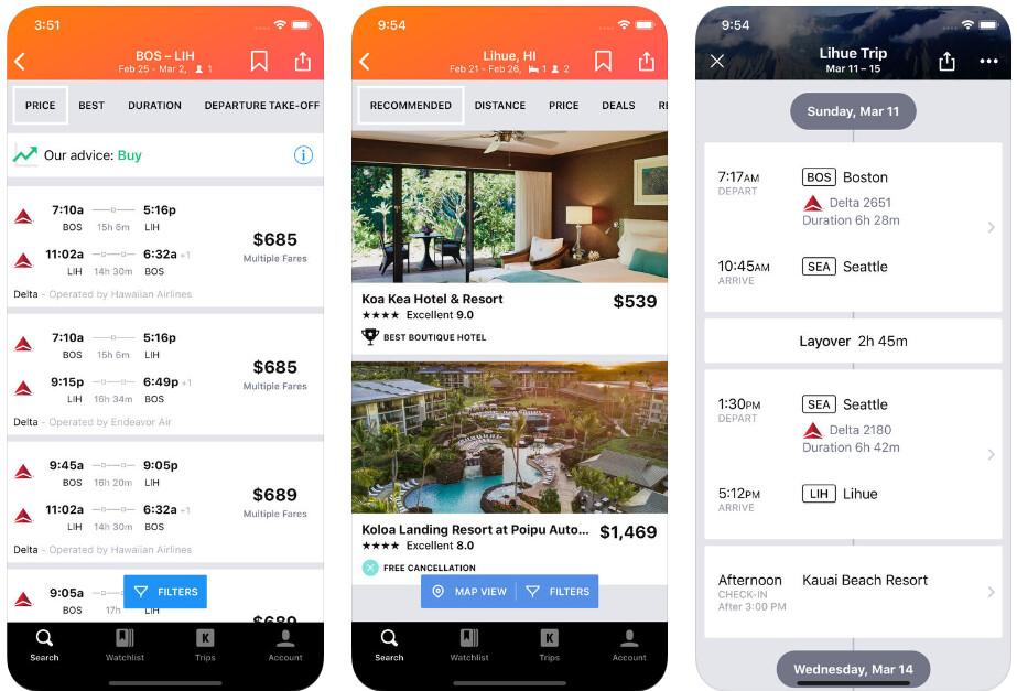 Kayak - Best iPhone apps (2020)