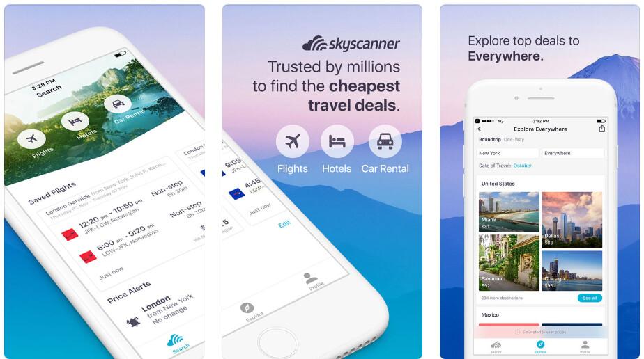 Skyscanner - Best iPhone apps (2020)