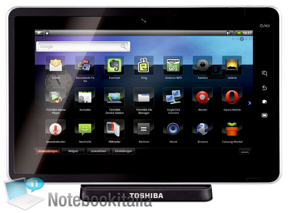 """Toshiba Folio 100 tablet - Toshiba's 10"""" Tegra 2 tablet delivers stunning Android benchmark results"""