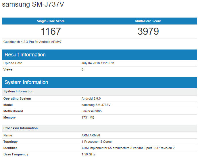 Samsung Galaxy J7 Aero leaks out before going official at Verizon