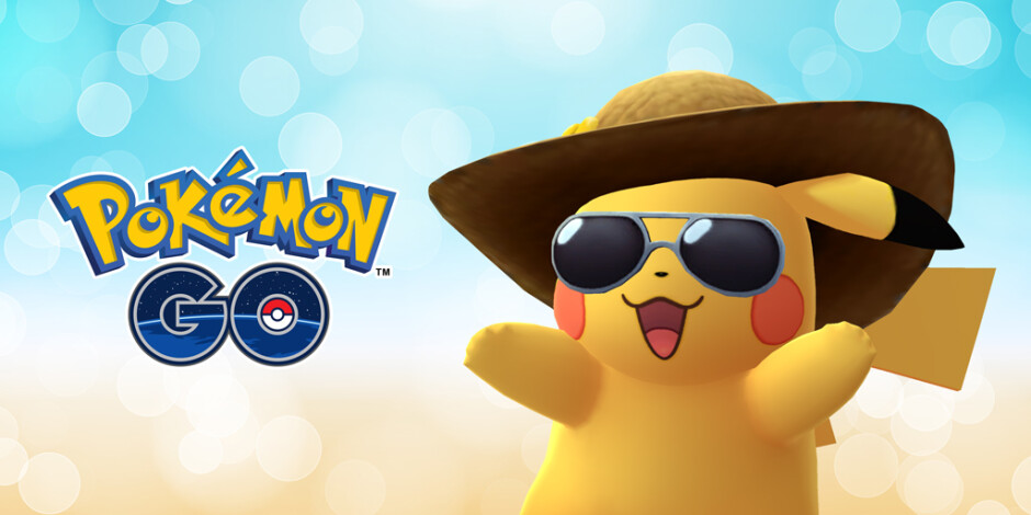 Summer Style Pikachu will appear in Pokemon GO this month - For Pokemon GO's second anniversary, Pikachu shows off some summer attire