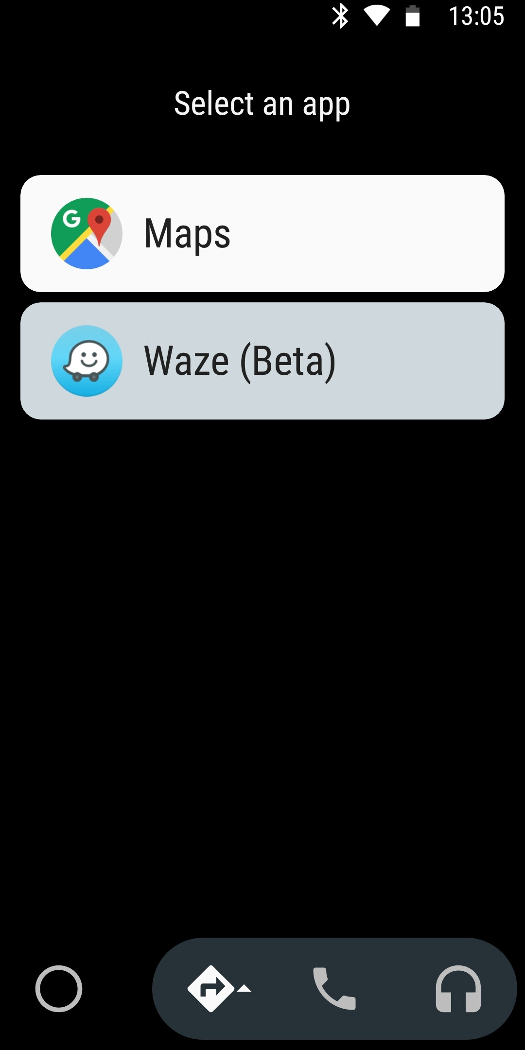 how to use waze instead of google maps with android auto. Black Bedroom Furniture Sets. Home Design Ideas