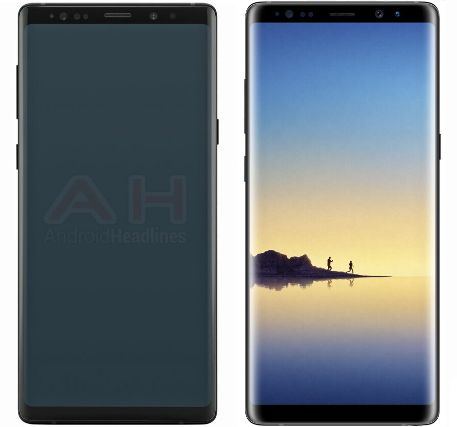 """""""Official"""" Samsung Galaxy Note 9 render leaks out, reveals a very Note 8-like front"""