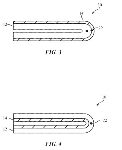 Images from patent awarded to Apple in relation to a folding display