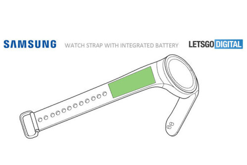 Battery embedded into the wrist strap