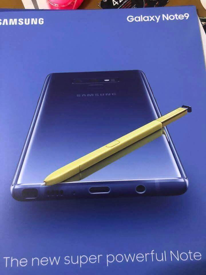 Alleged Galaxy Note 9 promotional poster - Alleged Galaxy Note 9 official picture leaves little to the imagination