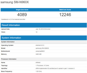 Samsung's new 9820 processor benchmark mauls iPhone scores, leaks on a mystery Note 9