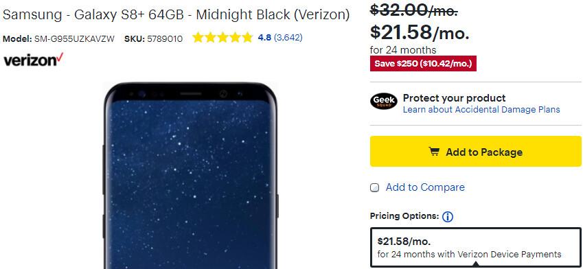 Deal: Samsung Galaxy S8+ is now $250 cheaper (Verizon, AT&T, Sprint)