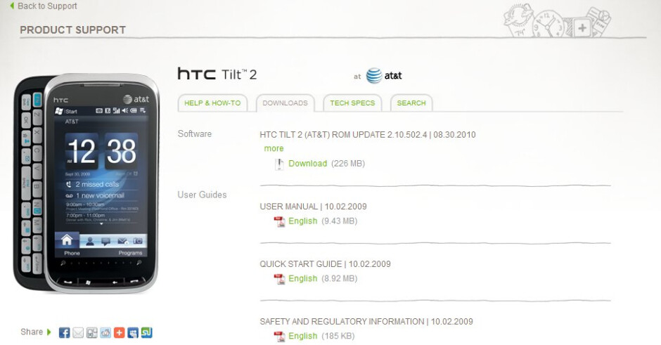 Software update for the HTC Tilt 2 brings Sense & other enhancements