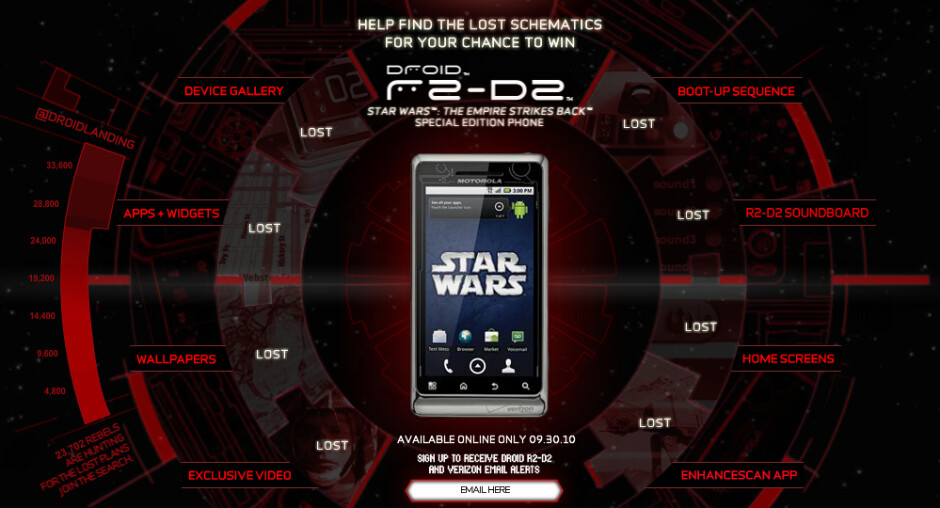 Find the lost schematics and win a free Star Wars edition DROID R2-D2