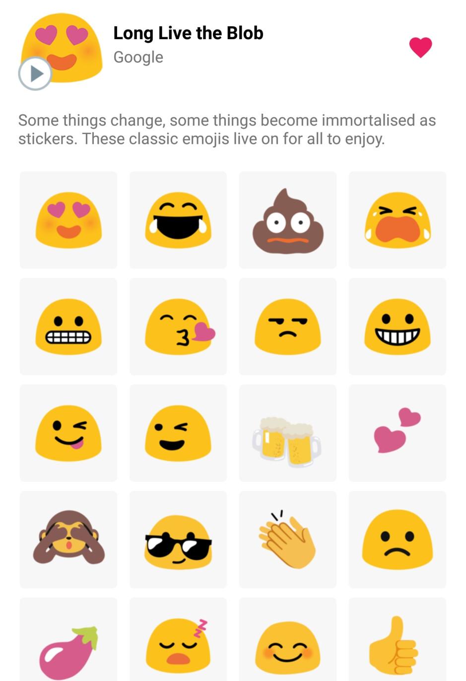 Heartwarming: Google brings back the blob emoji