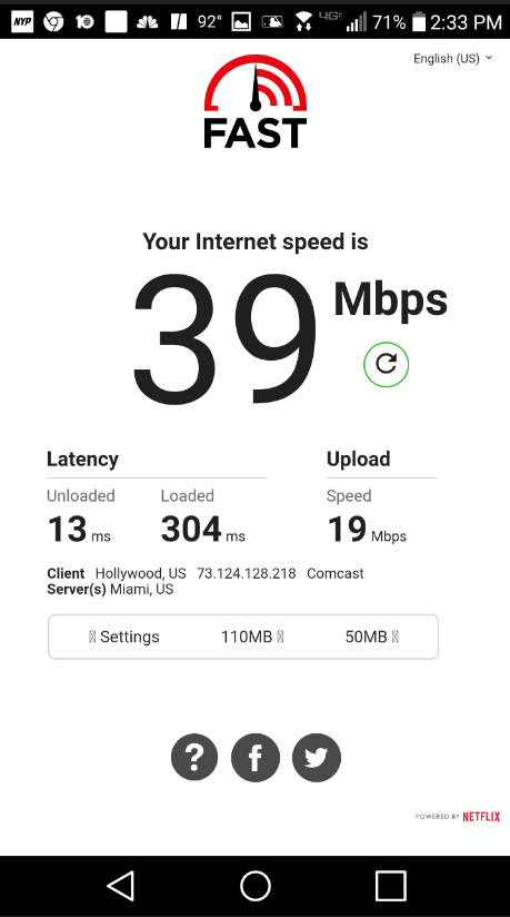 Fast.com will allow users to measure their devices' download, upload and latency speeds - Fast.com speed test app now measures your device's upload and latency speeds