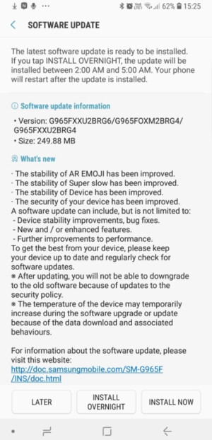 Samsung rolls out Galaxy S9/S9+ update that improves AR Emoji & Super Slow-mo