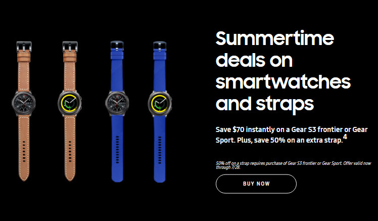 Deal: Buy a Samsung Gear S3 for $70 off and get a wrist band at half the price