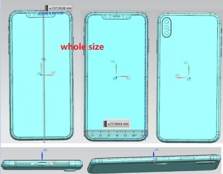 The render itself, not the most legit drawing we've ever seen - iPhone X & X Plus 2018 top expected features