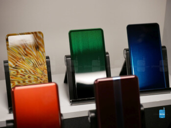 Corning's new inkjet technology allows them to print images on a piece of glass, with some offering unique textures to emulate the look and feel of real-life materials such as wood.