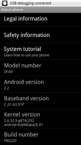 DROID owners begin to receive FRG22D Froyo update