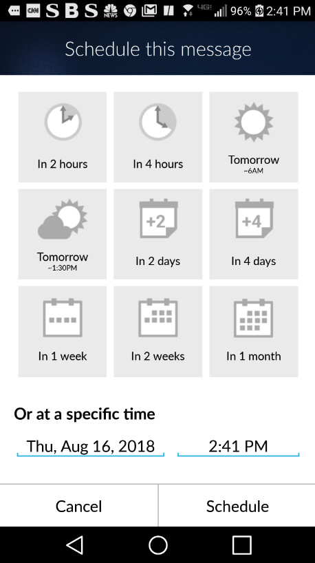 Gmail's schedule feature could resemble the one already offered by the Boomerang Mail app - Code reveals that scheduling feature could be coming soon to Gmail's Android app