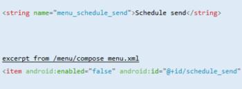 Der Code zeigt, dass die Google E-Mail-App