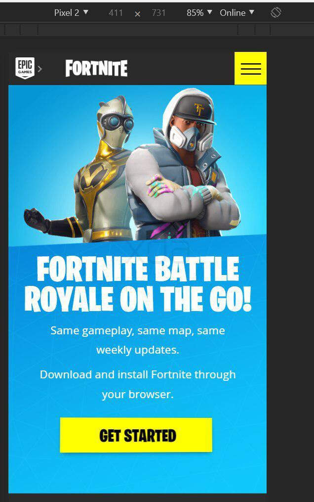Fortnite for Android may not be available for download in the Google Play Store