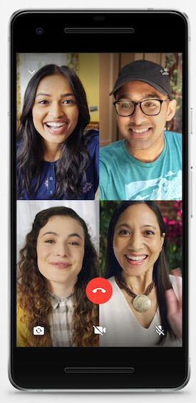 The feature in action - WhatsApp finally lets everyone make group video calls