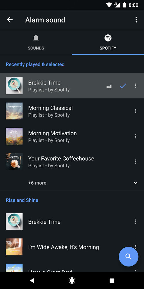 Google Clock app updated with musical alarms via Spotify