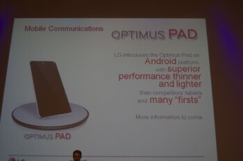 LG Optimus Pad teaser in the wild