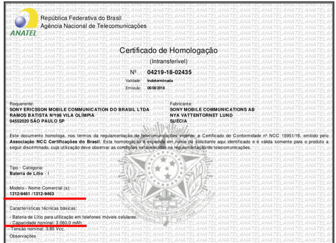 Sony Xperia XZ3 receives certification in Brazil, smaller battery revealed