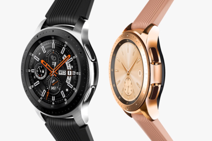 46mm Galaxy Watch (left) vs 42mm model (right) - Which new Samsung Galaxy Watch to buy? The smaller one has much shorter battery life!