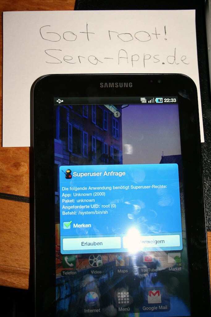 Samsung's Galaxy Tab gets rooted