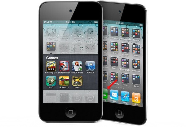 Images of the iPod touch show that iPhone apps are included with it