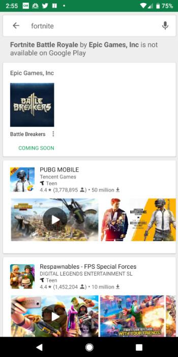 Das Fortune-Ende von Epic im Play Store könnte Google in diesem Jahr mehr als 50 Millionen US-Dollar kosten