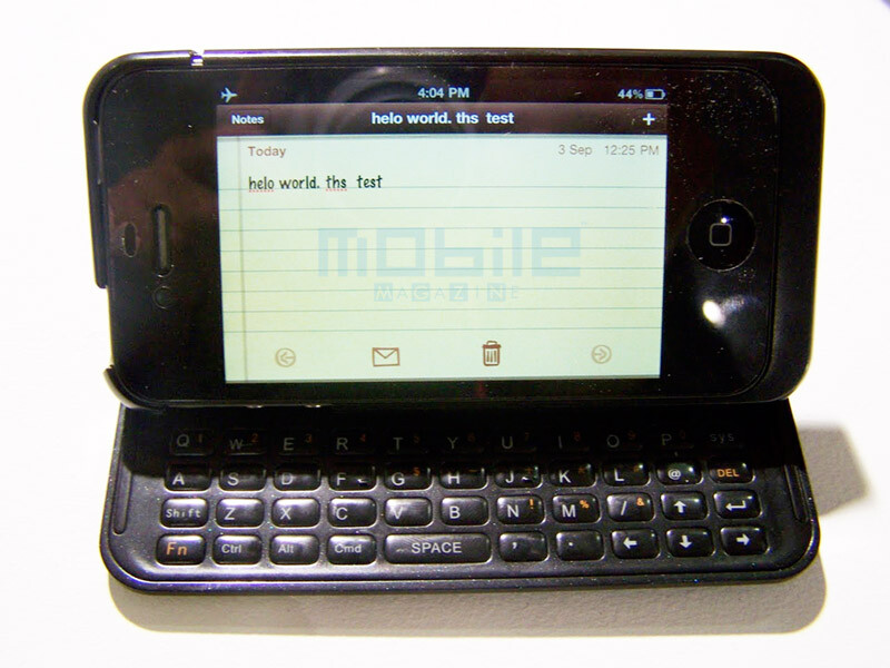Nuu's Mini Key case adds a physical keyboard to the iPhone 4